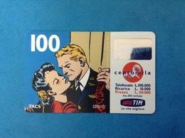 ITALIA SCHEDA TELEFONICA RICARICARD TIM USATA USED PHONE CARD - FLASH GORDON 100.000 LIRE SCAD. SET 2001 - Italy