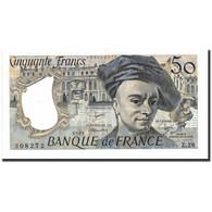 France, 50 Francs, 50 F 1976-1992 ''Quentin De La Tour'', 1982, 1982, KM:152b - 1962-1997 ''Francs''
