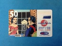 ITALIA SCHEDA TELEFONICA RICARICARD TIM USATA USED PHONE CARD - MANDRAKE 50.000 LIRE SCAD. APR 2001 10 - Italy