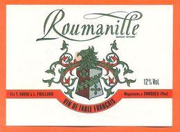 étiquette Vin De Table Roumanille T David Et L Foillard à Sorgues - 75 Cl - Red Wines