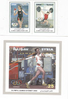 Syria 2000 Olympic Games Sydney 2v.se Tenant + S.sheet MNH Cpl. Nice Topical- Reduced Pr.KRILL PAY - Syrie
