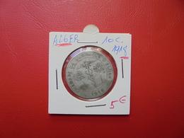 ALGER 10 Centimes 1918 (MONNAIE DE NECESSITE) - Francia