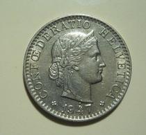Switzerland 20 Rappen 1947 Dot Over 4 - Zwitserland