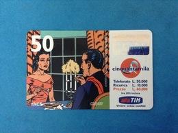 ITALIA SCHEDA TELEFONICA RICARICARD TIM USATA USED PHONE CARD - MANDRAKE 50.000 LIRE SCAD. APR 2001 10M - Italy