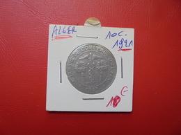 ALGER 10 Centimes 1921 (MONNAIE DE NECESSITE) - Francia