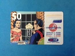 ITALIA SCHEDA TELEFONICA RICARICARD TIM USATA USED PHONE CARD - MANDRAKE 50.000 LIRE SCAD. GIU 2001 - Italy