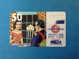 ITALIA SCHEDA TELEFONICA RICARICARD TIM USATA USED PHONE CARD - MANDRAKE 50.000 LIRE SCAD. SET 2001 - Italy