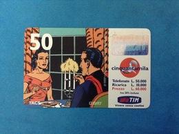 ITALIA SCHEDA TELEFONICA RICARICARD TIM USATA USED PHONE CARD - MANDRAKE 50.000 LIRE SCAD. SET 2001 10M - Italy