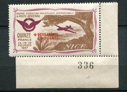 Vignette - Gde Exposition De Poste Aérienne - Nice Février 1947 - Erinnophilie