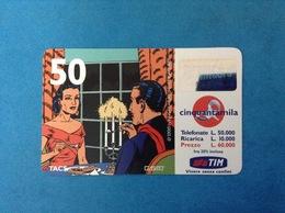 ITALIA SCHEDA TELEFONICA RICARICARD TIM USATA USED PHONE CARD - MANDRAKE 50.000 LIRE SCAD. OTT 2001 - Italy