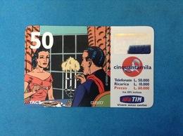 ITALIA SCHEDA TELEFONICA RICARICARD TIM USATA USED PHONE CARD - MANDRAKE 50.000 LIRE SCAD. NOV 2001 10M - Italy