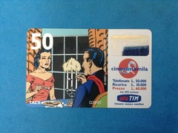 ITALIA SCHEDA TELEFONICA RICARICARD TIM USATA USED PHONE CARD - MANDRAKE 50.000 LIRE SCAD. NOV 2001 10P - Italy