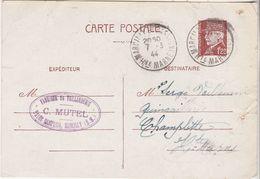 Carte Commerciale 1944 / Entier Pétain 1F20 / Lucien DUMAS / Les Fuseaux D'Auvergne / 03 Vichy Allier - Mappe