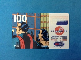 ITALIA SCHEDA TELEFONICA RICARICARD TIM USATA USED PHONE CARD - MANDRAKE 100.000 LIRE SCAD. GEN 2001 - Italy
