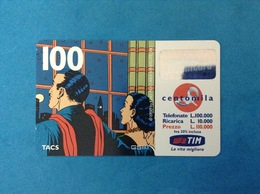 ITALIA SCHEDA TELEFONICA RICARICARD TIM USATA USED PHONE CARD - MANDRAKE 100.000 LIRE SCAD. FEB 2001 - Italy