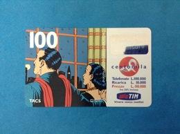 ITALIA SCHEDA TELEFONICA RICARICARD TIM USATA USED PHONE CARD - MANDRAKE 100.000 LIRE SCAD. APR 2001 - Italy