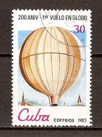 1983 - Bicentenaire Aéronautique - Montgolfier 1783 - N°2428 - Cuba