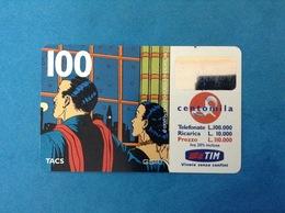 ITALIA SCHEDA TELEFONICA RICARICARD TIM USATA USED PHONE CARD - MANDRAKE 100.000 LIRE SCAD. SET 2001 - Italy