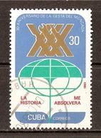 1983 - 30e Anniversaire Attaque Moncada - L'Histoire M'absorbera ''Fidel Castro'' - N°2442 - Cuba