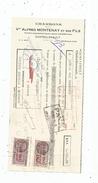 Lettre De Change ,charbons Vve Alfred MONTENAY Et Ses Fils, Chatellerault , 1943 , Timbrée, 2 Scans ,  Frais Fr : 1.55 & - Bills Of Exchange
