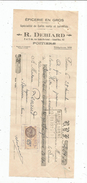 Lettre De Change ,mandat , épicerie En Gros , R. Debiard , Poitiers , 1931 , 2 Scans ,  Frais Fr : 1.55 & - Bills Of Exchange