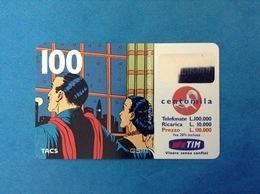 ITALIA SCHEDA TELEFONICA RICARICARD TIM USATA USED PHONE CARD - MANDRAKE 100.000 LIRE SCAD. NOV 2001 - Italy