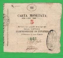 3 Lire 1848 Palmanova Assedio Austriaco Assegnato Occupazione - Austrian Occupation Of Venezia