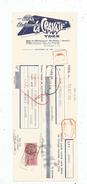 Lettre De Change , 1957 , Ets LA CRAVATE , YDES , CANTAL , Timbré , 2 Scans ,  Frais Fr : 1.55 Euros - Bills Of Exchange