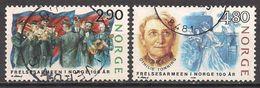 Norwegen  (1988)  Mi.Nr.  988 + 989  Gest. / Used  (2ee22) - Norwegen