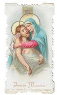 Santino.70 JESUS MUERTO 1854 - Old Paper