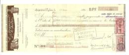 """Lettre De Change,Fournitures Générales """"E. Jouneaud Et M. Bodin"""" - Argenton-l'Eglise (79)- 1940 - Frais De Port : € 1.55 - Bills Of Exchange"""