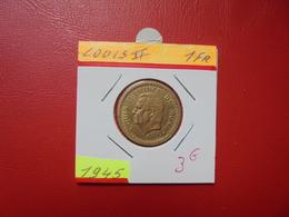 MONACO 1 Franc (NON-DATE) 1945 - Monaco