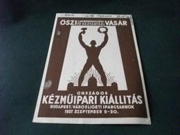 STORIA POSTALE RARA OSZI VASAR KEZMUIPARI KIALLITAS  BUDAPEST 5° ESPOSIZIONE ARTIGIANA NAZIONALE UNGHERIA - Esposizioni