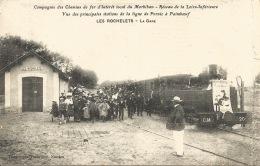 44  LES ROCHELETS La Gare  Ligne De Pornic à Paimboeuf VERSO Horaires De La Ligne - Gares - Avec Trains
