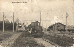 45 CLERY  Loiret  La Gare - Gares - Avec Trains