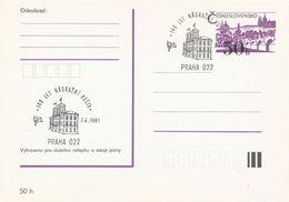 I0257 - Tschechoslowakei (1991) Praha 022: 140 Jahre Eisenbahnpost (Poststempel: Gebäude Der Station; Postrohr) - Post