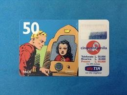 ITALIA SCHEDA TELEFONICA RICARICARD TIM USATA USED PHONE CARD - FLASH GORDON 50.000 LIRE SCAD. NOV 2000 - Italy