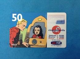 ITALIA SCHEDA TELEFONICA RICARICARD TIM USATA USED PHONE CARD - FLASH GORDON 50.000 LIRE SCAD. DIC 2000 - Italy