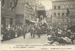 Louvain Fetes Carnavalesques 23 Juin 1909 Le Char Japonais   (7047) - Leuven