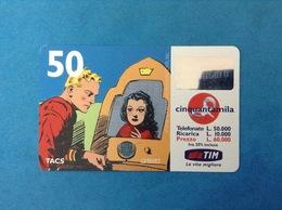 ITALIA SCHEDA TELEFONICA RICARICARD TIM USATA USED PHONE CARD - FLASH GORDON 50.000 LIRE SCAD. FEB 2001 - Italy