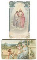 Santino.37 Prima Comunione 1912 + 1925 Lotto Di 2 Non Perfetti Scritte Sul Retro - Vecchi Documenti
