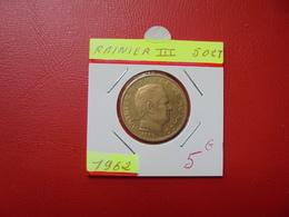 MONACO 50 Centimes 1962 - 1960-2001 New Francs