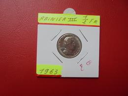 MONACO 1/2 Franc 1963 - 1960-2001 New Francs