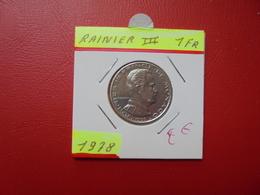 MONACO 1 Franc 1978 - 1960-2001 New Francs