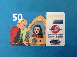 ITALIA SCHEDA TELEFONICA RICARICARD TIM USATA USED PHONE CARD - FLASH GORDON 50.000 LIRE SCAD. GIU 2001 - Italy