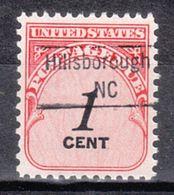 USA Precancel Vorausentwertung Preo, Locals North Carolina, Hillsborough 843 - Vereinigte Staaten