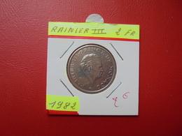 MONACO 2 Francs 1982 - 1960-2001 New Francs
