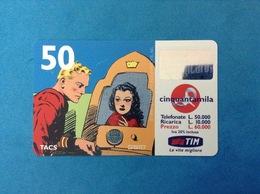 ITALIA SCHEDA TELEFONICA RICARICARD TIM USATA USED PHONE CARD - FLASH GORDON 50.000 LIRE SCAD. LUG 2001 - Italy