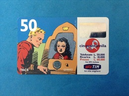 ITALIA SCHEDA TELEFONICA RICARICARD TIM USATA USED PHONE CARD - FLASH GORDON 50.000 LIRE SCAD. SET 2001 - Italy