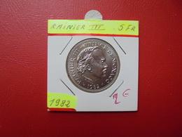 MONACO 5 Francs 1982 - 1960-2001 New Francs